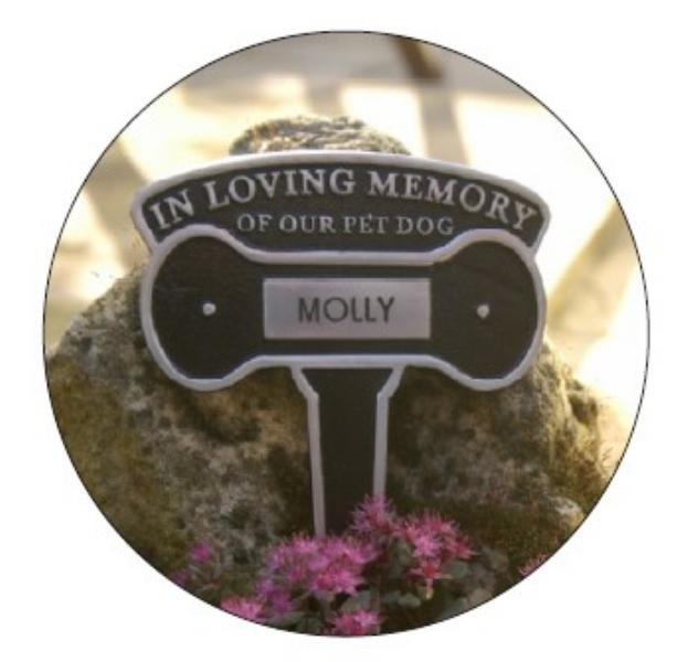Engraved dog memorial plaque