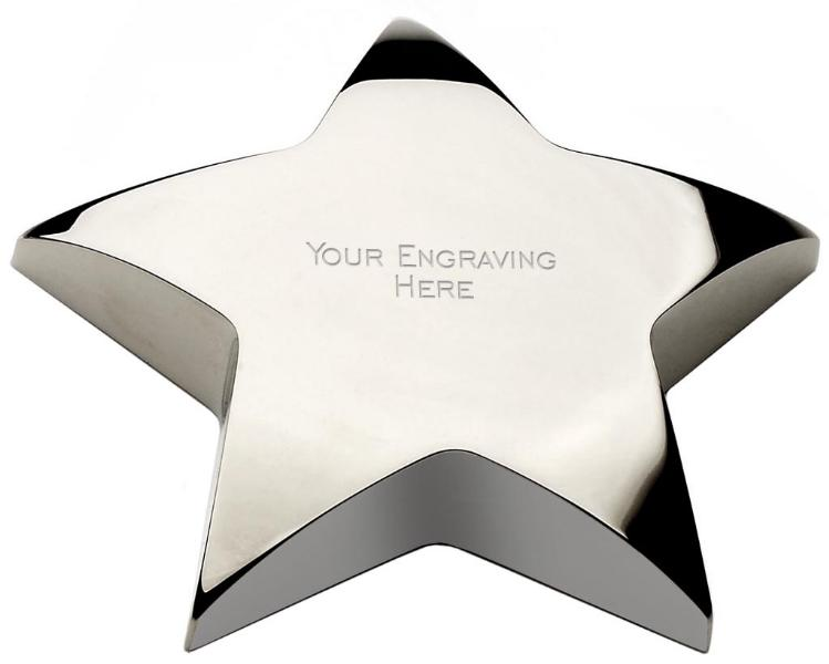 Star Award - Personalised Star Paperweight