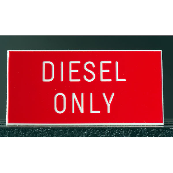 engraved_diesel_only_sign