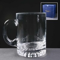 Engraved Glass Tankards