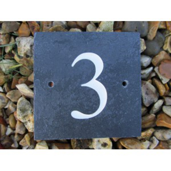 b98202b57642 Engraved Slate House Signs: Slate House Number Sign