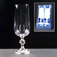 Claudia Champagne Flutes in a Satin Box
