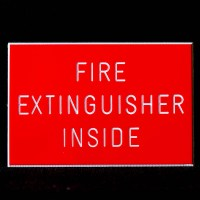 Fire Extinguisher Inside Sign