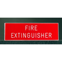 Pre-engraved Fire Extinguisher Sign
