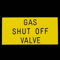 Gas Shut Off Valve Sign