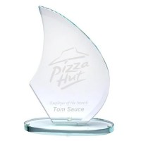 Large Epic Sail Jade Glass Award