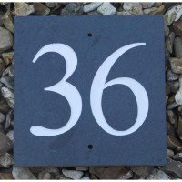 Large Slate Number Sign