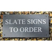 Slate House Name Sign