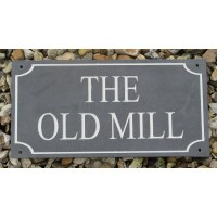 Slate Name Plaque