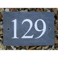 Slate Numbers Sign