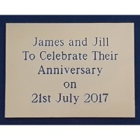 Engraved Brass Plaque 8