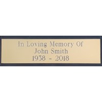 Engraved Brass Plaque 6